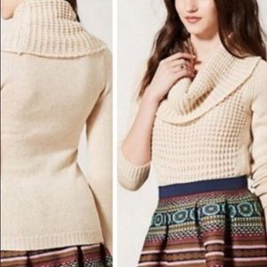 Anthropologie Angel of the North Oatmeal Sweater